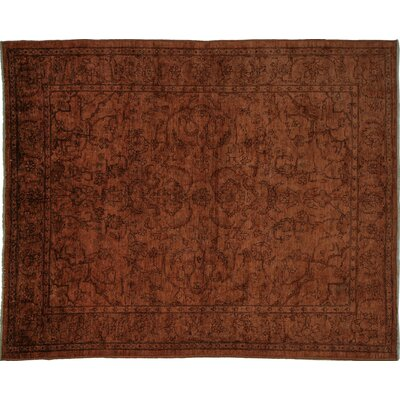 Overdyed Walker Hand-Knotted Brown Area Rug