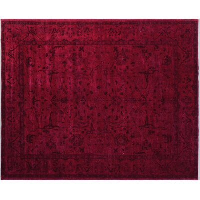 One-of-a-Kind Overdyed Dariga Hand-Knotted Pink Area Rug
