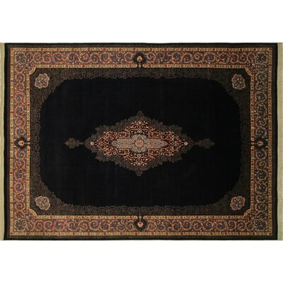 Pak-Persian Rylan Hand Knotted Wool Blue Area Rug Rug Size: Rectangle 9 x 124