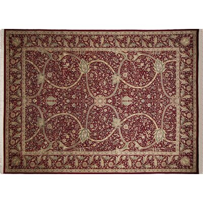 Pak-Persian Ashtyn Hand-Knotted Red Area Rug