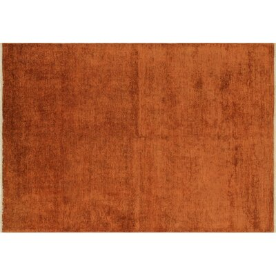Overdyed Coleton Hand-Knotted Rust Area Rug