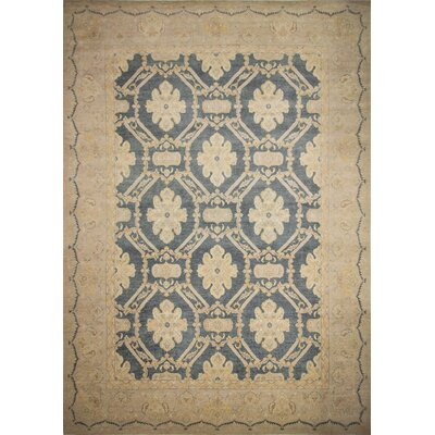 One-of-a-Kind Leann Hand-Knotted Blue/Gray Area Rug