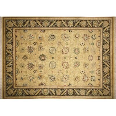Pak-Persian Myriam Hand Knotted Wool Gold Area Rug Rug Size: Rectangle 10 x 139