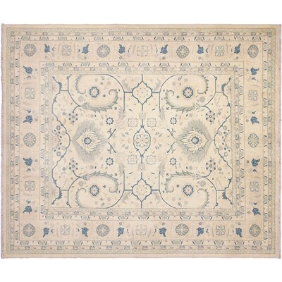 One-of-a-Kind Leann Hand-Knotted Persian Beige Indoor Area Rug