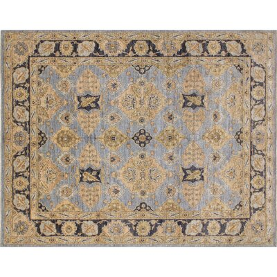 Leann Hand-Knotted Gray Indoor Area Rug