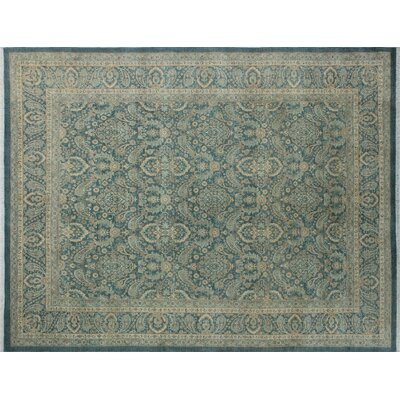 Leann Hand-Knotted Traditional Blue/Gray Indoor Area Rug