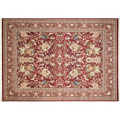 Pak-Persian Rovena Hand Knotted Wool Red Area Rug Rug Size: Rectangle 9 x 125