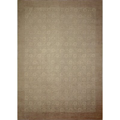 Leann Hand-Knotted Rectangle Chocolate Wool Area Rug