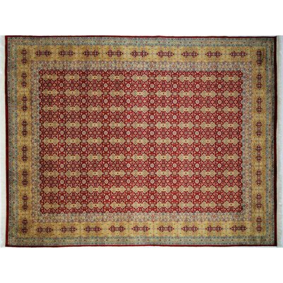 Pak-Persian Stuart Hand-Knotted Red Area Rug