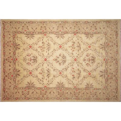 One-of-a-Kind Leann Hand-Knotted Oriental Rectangle Beige Indoor Area Rug
