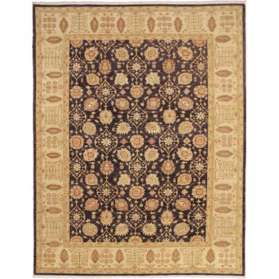One-of-a-Kind Leann Hand-Knotted Aubergine Indoor Area Rug