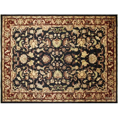 Montague�Hand-Knotted Black Wool Area Rug