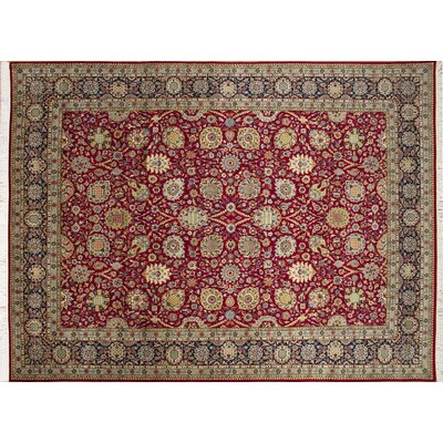 Pak-Persian Rylee Hand Knotted Wool Red Area Rug Rug Size: Rectangle 9 x 125