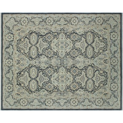 One-of-a-Kind Leann Hand-Knotted Charcoal Area Rug