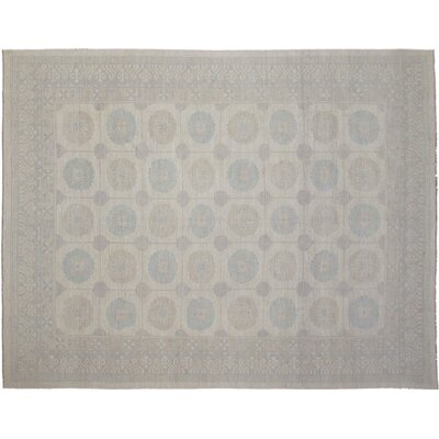 Leann Hand-Knotted Ivory Area Rug