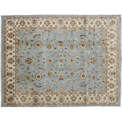 One-of-a-Kind Leann Hand-Knotted Rectangle Blue Area Rug