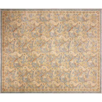 One-of-a-Kind Leann Hand-Knotted Light Blue Area Rug