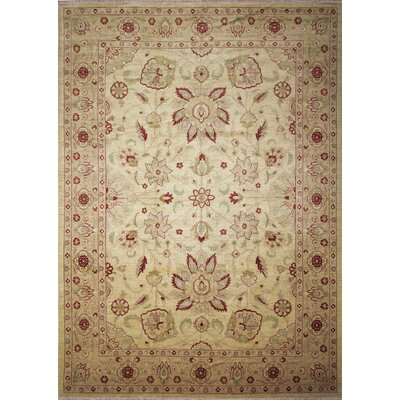 One-of-a-Kind Leann Hand-Knotted Rectangle Beige Area Rug