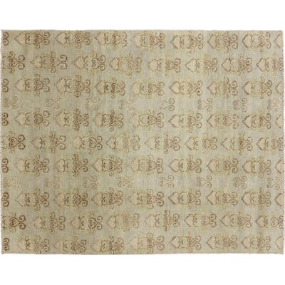One-of-a-Kind Bellview Hand-Knotted Green/Brown Area Rug