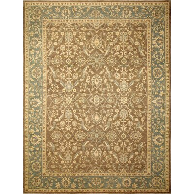 One-of-a-Kind Leann Hand-Knotted Light Brown Wool Indoor Area Rug