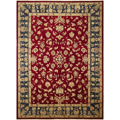 One-of-a-Kind Montague�Hand-Knotted Classic Red Area Rug