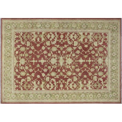 One-of-a-Kind Leann Hand-Knotted Rust Wool Indoor Area Rug