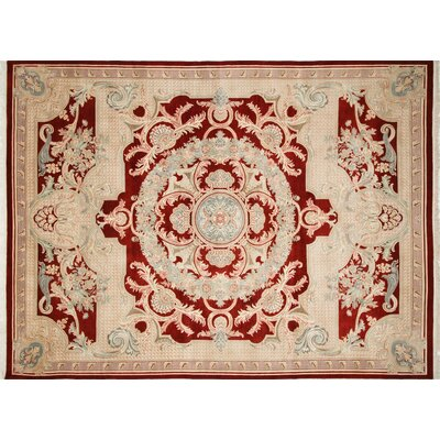 Pak-Persian Ryley Hand-Knotted Red Area Rug