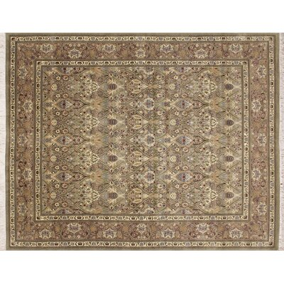 Pak-Persian Shahrivar Hand-Knotted Light Green Area Rug