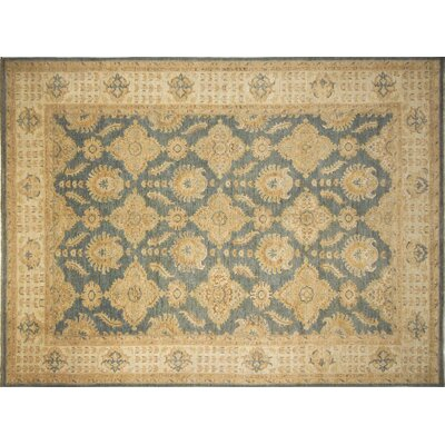 Leann Hand-Knotted Gray/Blue Area Rug