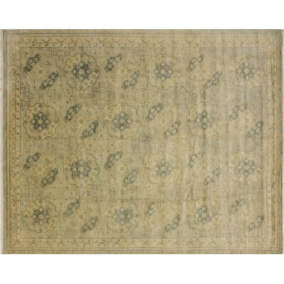 Bellview Hand-Knotted Green/Gray Area Rug