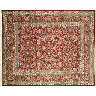 Pak-Persian Simin Hand-Knotted Red Area Rug