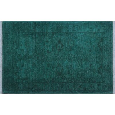 One-of-a-Kind Aidric Hand-Knotted Teal Green Area Rug