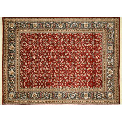 Pak-Persian Stanley Hand-Knotted Red Area Rug