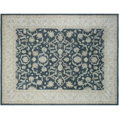 One-of-a-Kind Leann Hand-Knotted Oriental Retangle Gray Area Rug