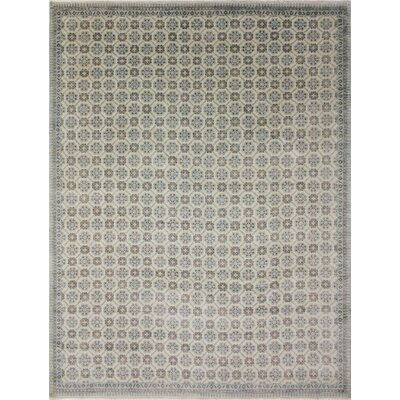 Bellview Floral Hand-Knotted Ivory Area Rug