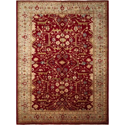 One-of-a-Kind Montague�Oriental Hand-Knotted Red Area Rug