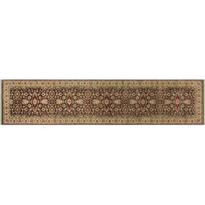 Leann Hand-Knotted Chocolate Brown/Gold Area Rug
