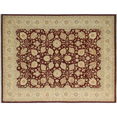 One-of-a-Kind Leann Hand-Knotted Oriental Rectangle Rust Indoor Area Rug