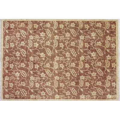 One-of-a-Kind Leann Hand-Knotted Chocolate Indoor Area Rug