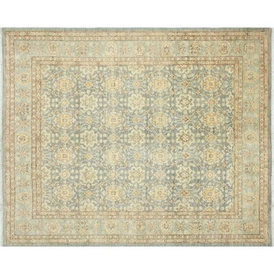 One-of-a-Kind Leann Hand-Knotted Rectangle Gray Area Rug