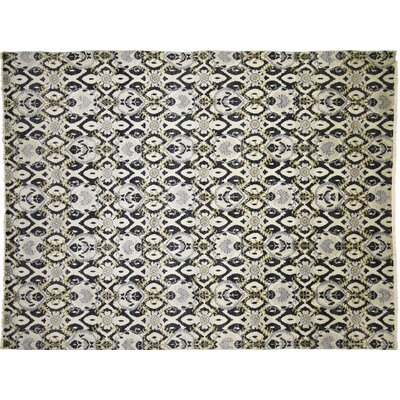 One-of-a-Kind Bellview Oriental Hand-Knotted Rectangle Wool Ivory Area Rug