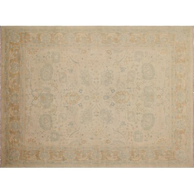 Leann Hand-Knotted Light Tan Area Rug