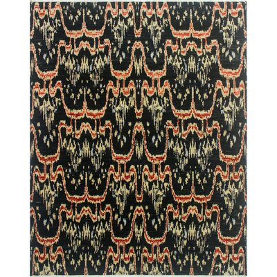 Bellview Oriental Hand-Knotted Black Area Rug