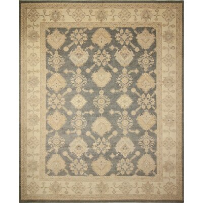 Leann Hand-Knotted Gray Wool Area Rug