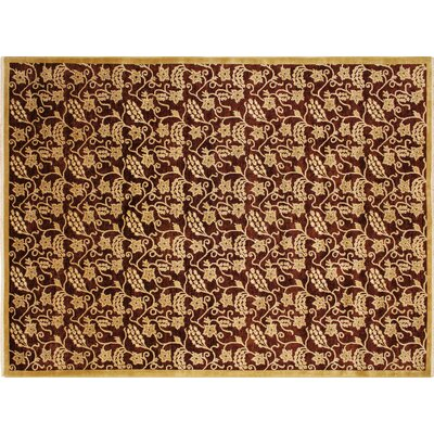 One-of-a-Kind Montague�Hand-Knotted Aubergine Area Rug