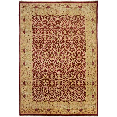 Montague�Hand-Knotted Rectangle Red Area Rug