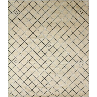 One-of-a-Kind Berwyn Indo Sayra Hand-Knotted Ivory Area Rug