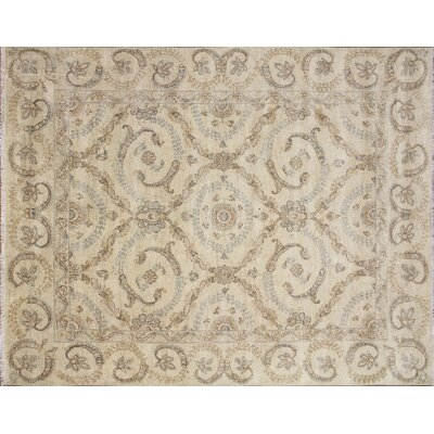Leann Hand-Knotted Premium Wool Area Rug