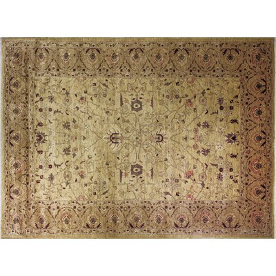 One-of-a-Kind Leann Hand-Knotted Gold Area Rug