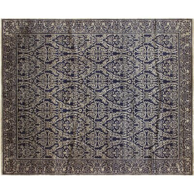 One-of-a-Kind Montague�Hand-Knotted Rectangle Black Area Rug